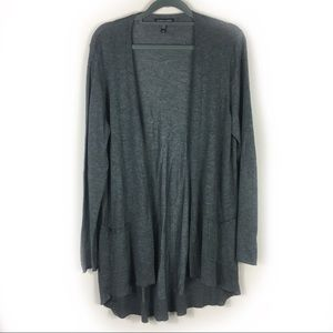 Eileen Fisher Gray Long Open Cardigan